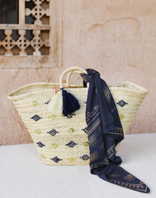 Large Casablanca Navy Basket